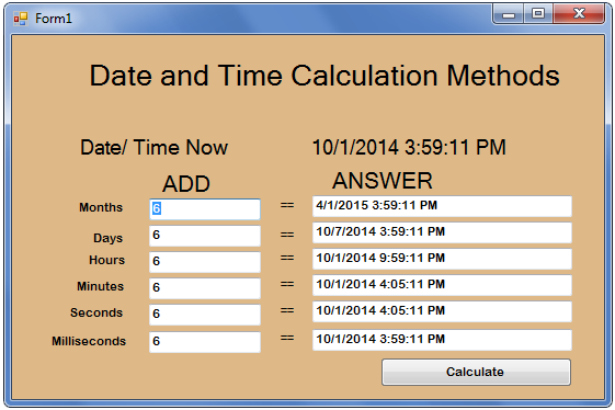 How to Create a Method for Calculating the Date and Time in VB.Net