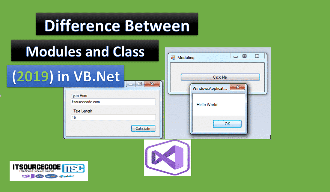 difference between modules and class in vb.net