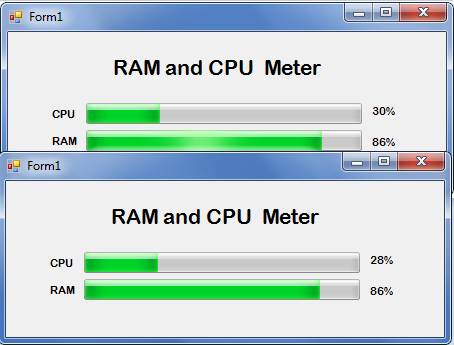 How to Create CPU and RAM Meter in VB.NET