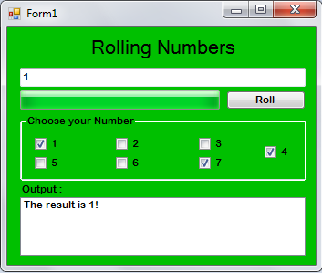How to Create Rolling Numbers Game in VB.Net