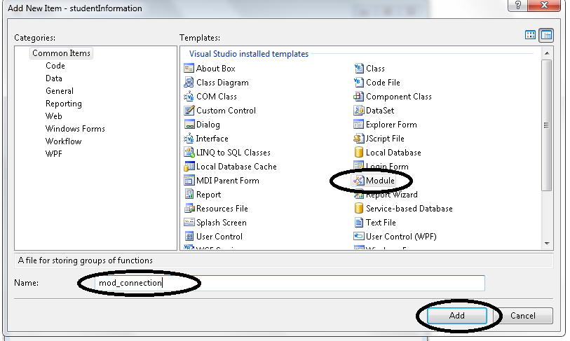 Setting Up Connection Between MS Access Database and Visual Basic 2008
