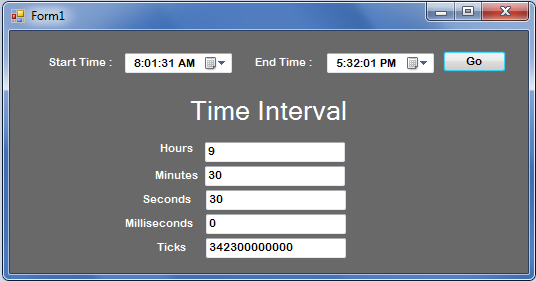 Getting the Time Interval in VB.net