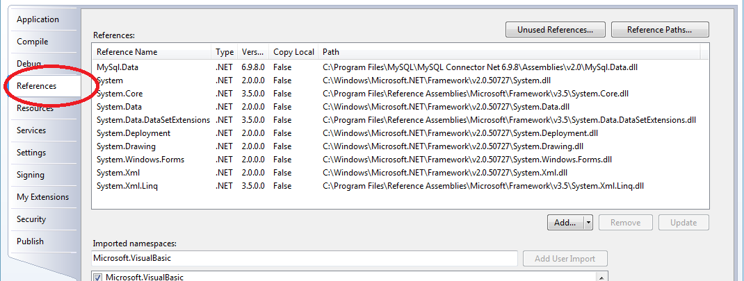 How to Add Mysql.data.dll to your Visual Basic Application