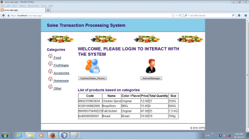 Sales Transaction Processing System (STPS)