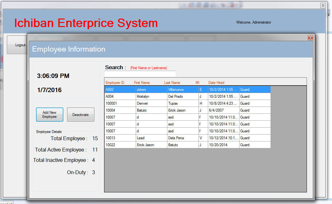Ichiban Enterprise Payroll System Using Vb Net And Ms