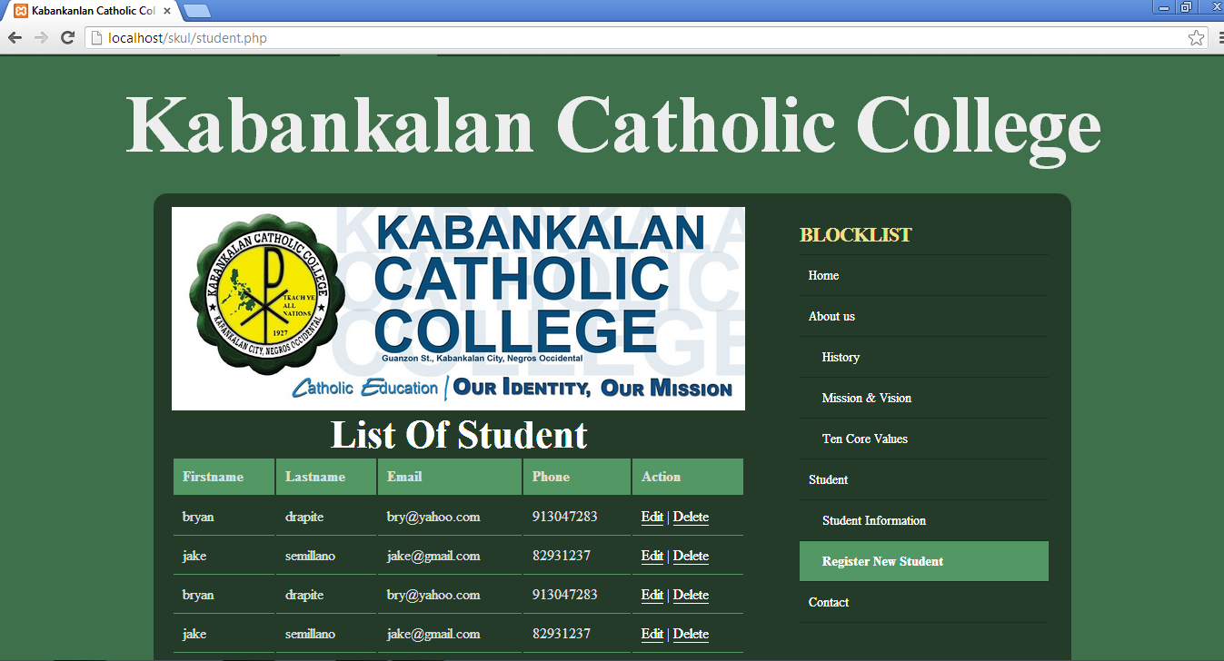 Simple Student Information System