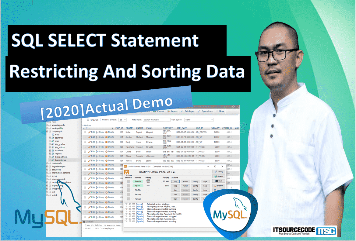 SQL SELECT Statement WHERE Restricting and Sorting of Data