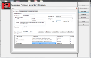 product inventory system