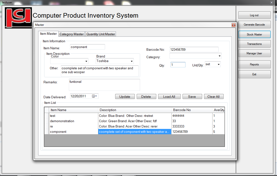 inventory system documentation thesis introduction An inventory system monitors the levels of inventory and determines the timeline and quantity of orders companies maintain inventories of raw materials, work.