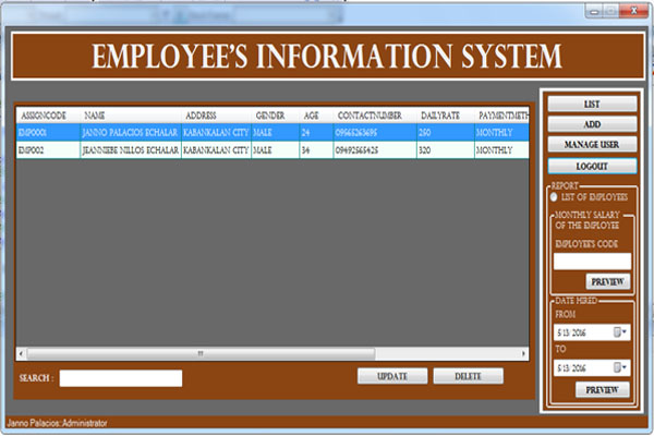 employeeInformationSystemPI12