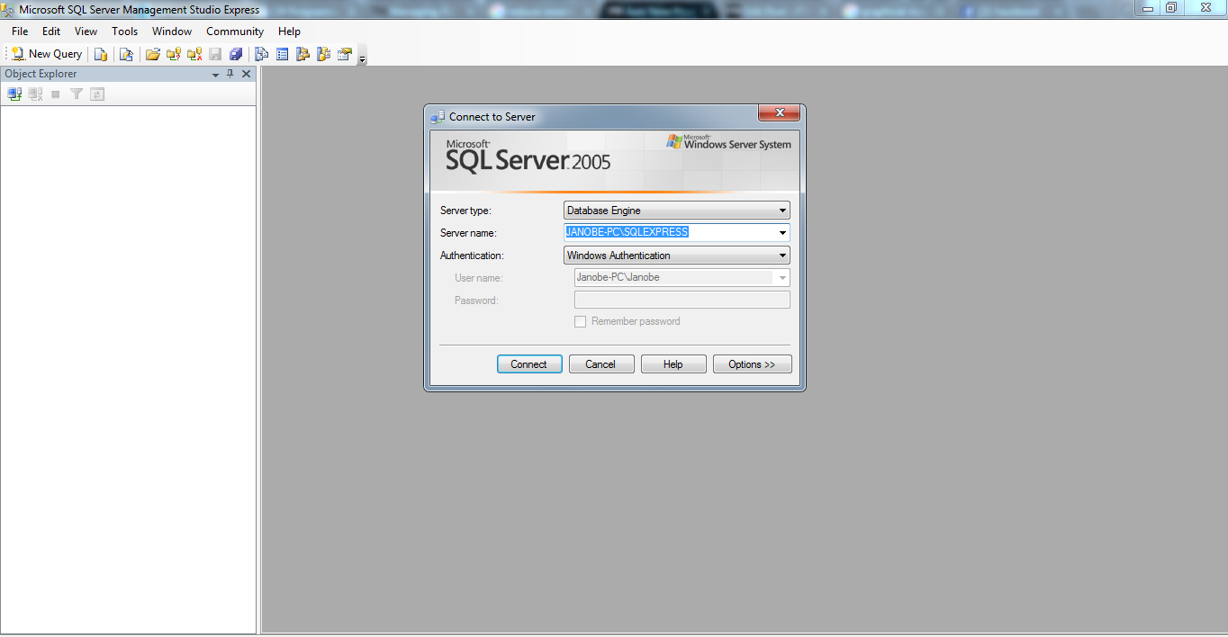 How To Create A Database In The Sql Server 2005