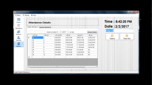 attendance monitoring system reports