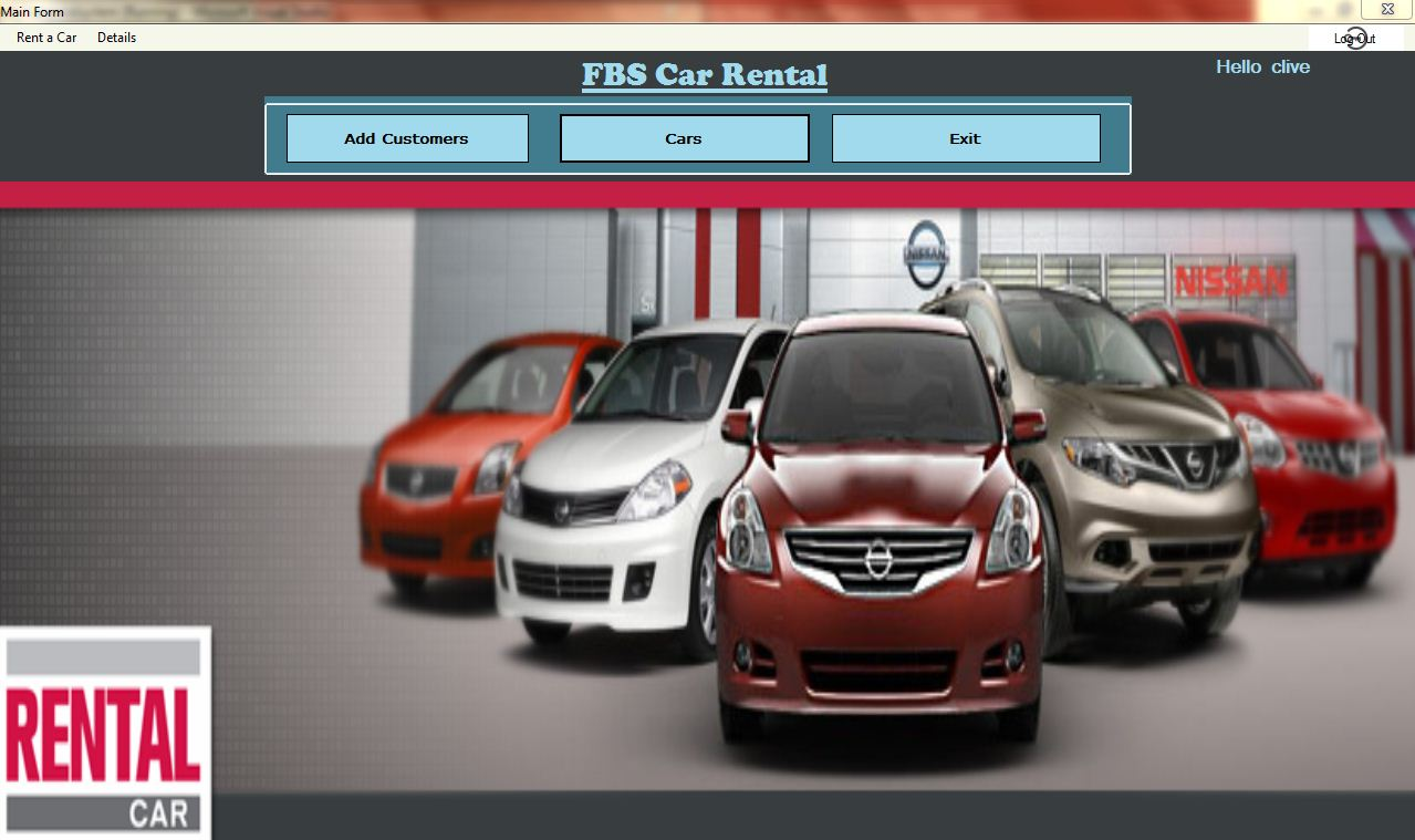 Car Rental System Using VB.Net and MS Access Version 1.1.0