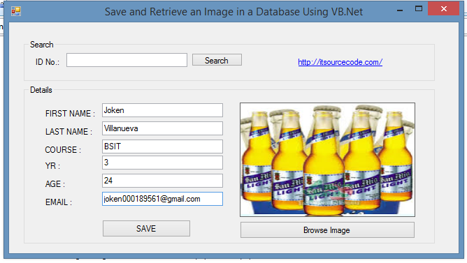 Save And Retrieve Image From Database Using Vb Net And Mysql