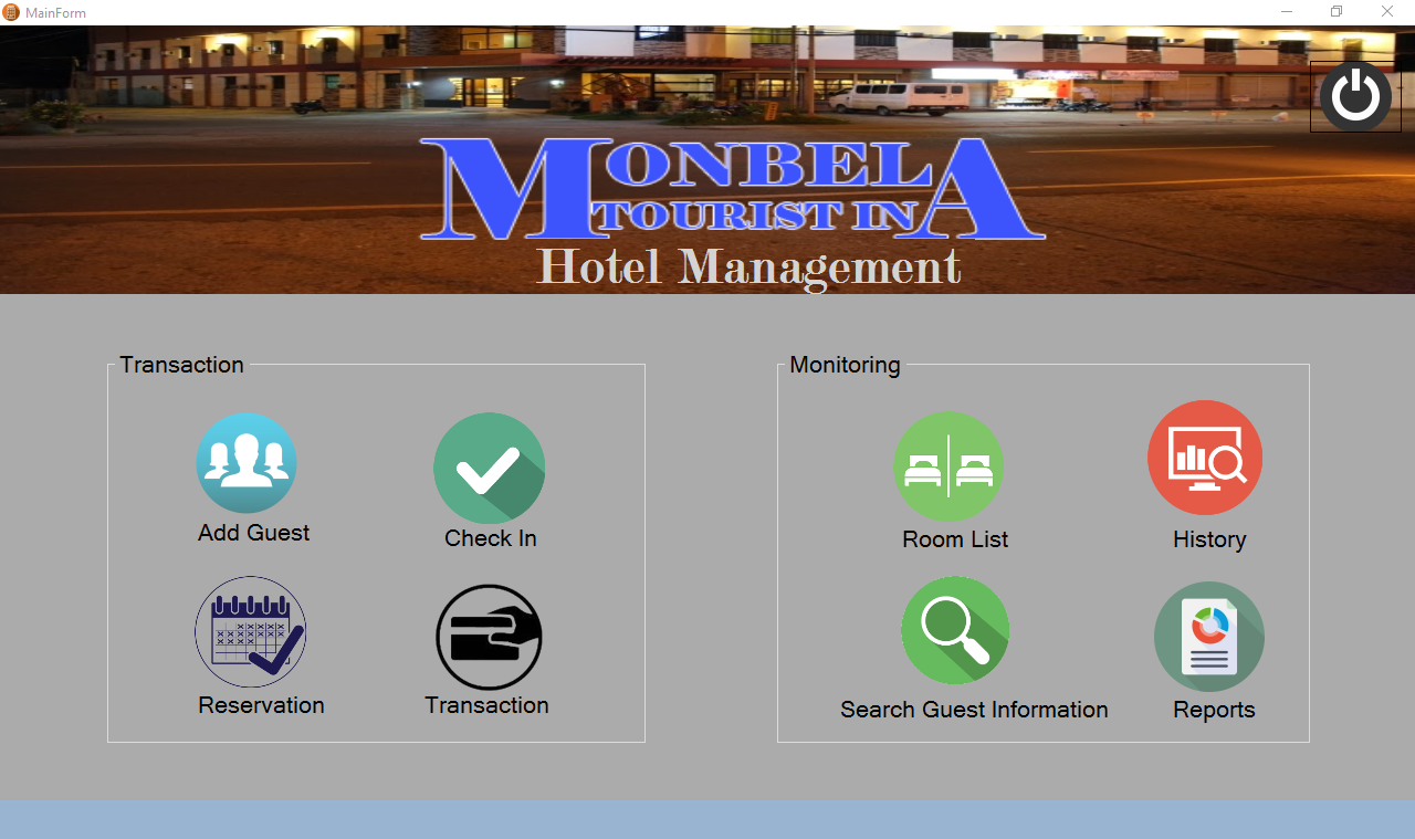 Monbela Hotel Management System Project Using Vb Net And