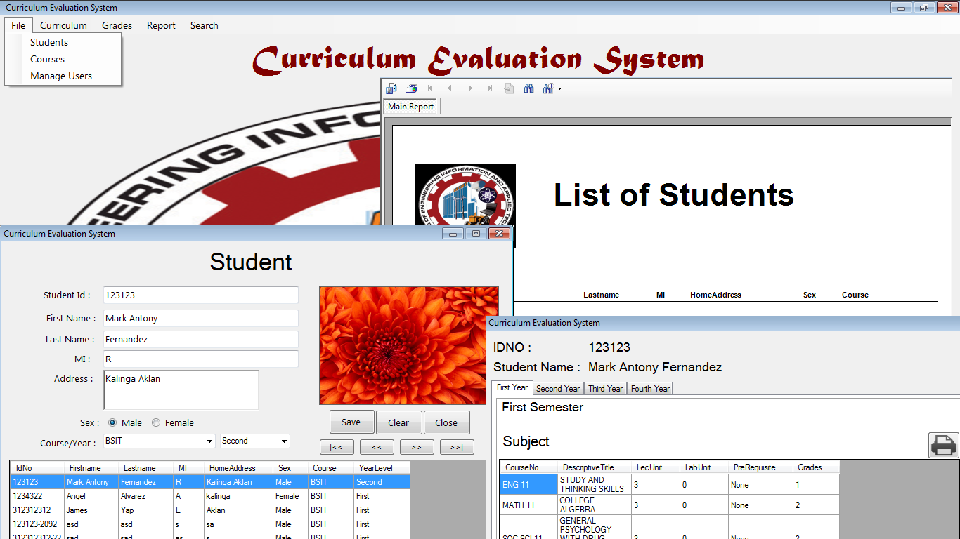 student evaluation system using visual basic net and mysql database