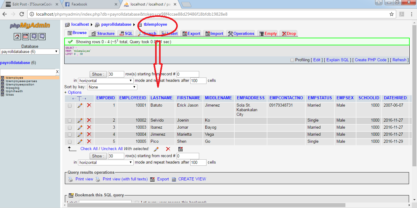 106 mysql query select statement for managing payroll system module the purpose of this presentation is to load these data in our frmlistofemployee which will test our select statement module to its functionality baditri Image collections