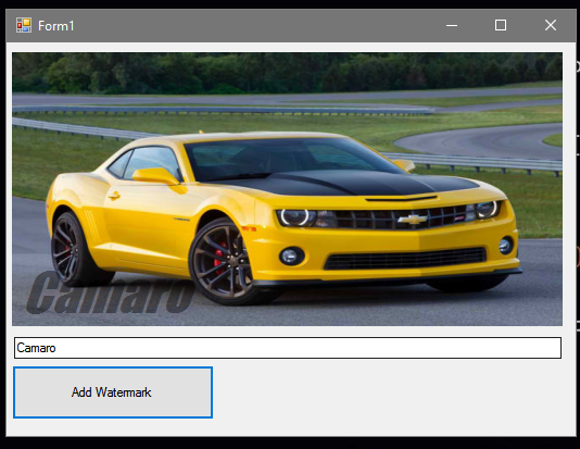 How to Add Watermark to a Picture using VB.Net