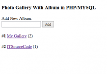 Photo Gallery With Album Using PHP/MYSQL