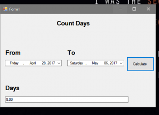 How to Count or Calculate Days in Visual Basic.Net