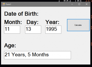 How to Calculate Age using VB.Net
