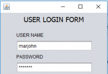 Create a Login Form Using Java
