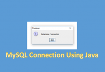 create mysql connection using java