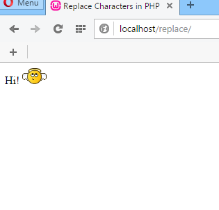 Replace Character Using PHP for Creating Personalized Smiley Codes 2016