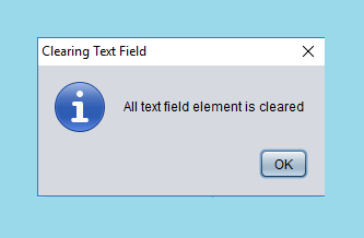Clear Text Field Element using Java