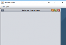 Display Internal Frame Form into Desktop Pane in Java