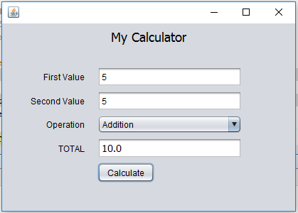 How to create a simple calculator with gui in java quora.