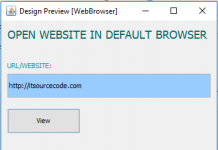 Open Website URL Default Browser using Java