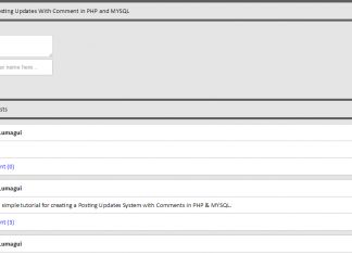 Posting Status Updates with Comment Like Facebook Using PHP/MySQL