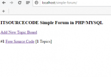Create a Simple Forum Using PHP/MYSQL