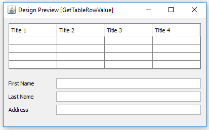 Get Table Row Value and Display into Text Field Elements