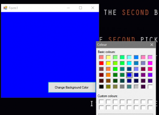 Change Background Color Using Color Dialog in VB.Net