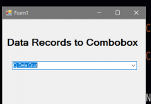 Filling MS Access Data Records to ComboBox in VB.Net