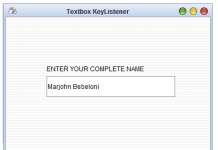 How To Add TextBox KeyListener In Java