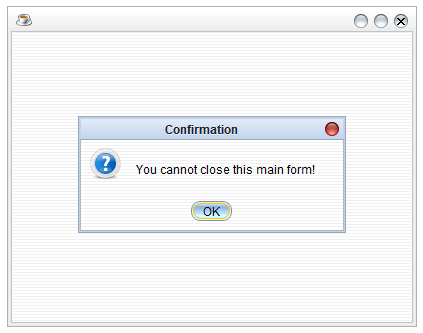 Avoid Closing the Form in Java