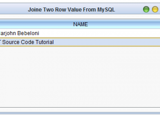 Join Two String Value using MySQL CONCAT Function in Java