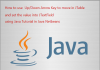 How to use Up/Down Arrow Key in Java Tutorial Using Netbeans IDE
