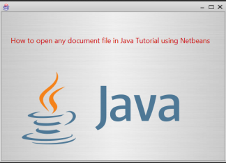 Opening any document file in Java Tutorial using NetBeans IDE