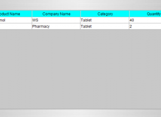 Change the background color of table header in table using Java Tutorial