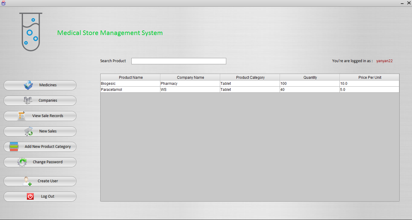 Medical Store Management System using Java in Netbeans