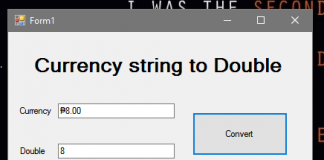 How to Convert Currency String to Double in VB.Net