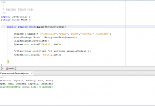 Collection Method Sorting in Java Tutorial Using Netbeans IDE
