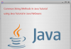 Common String Methods In Java Tutorial Using Netbeans IDE