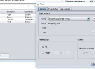 Print Data in Table using Java Tutorial in Netbeans