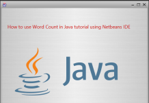 How to use Word Count in Java tutorial using NetBeans IDE