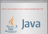 How to use Encryption in Java Tutorial using Net beans IDE